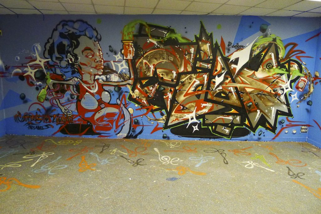 Gerbos Mad City Mural Graffiti