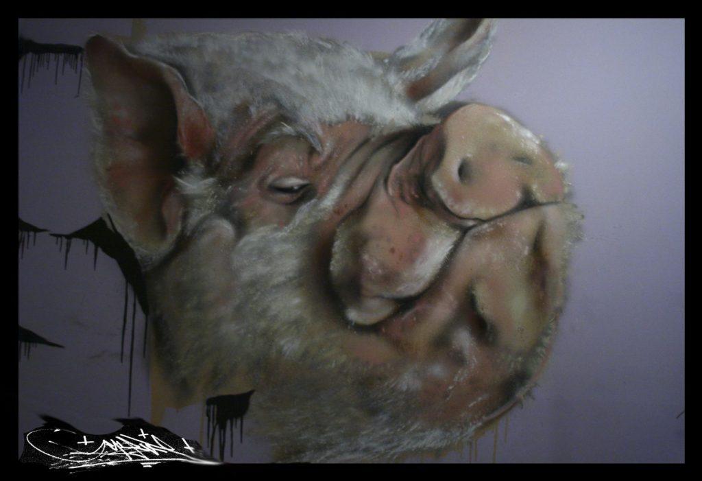 cerdo realista encargo