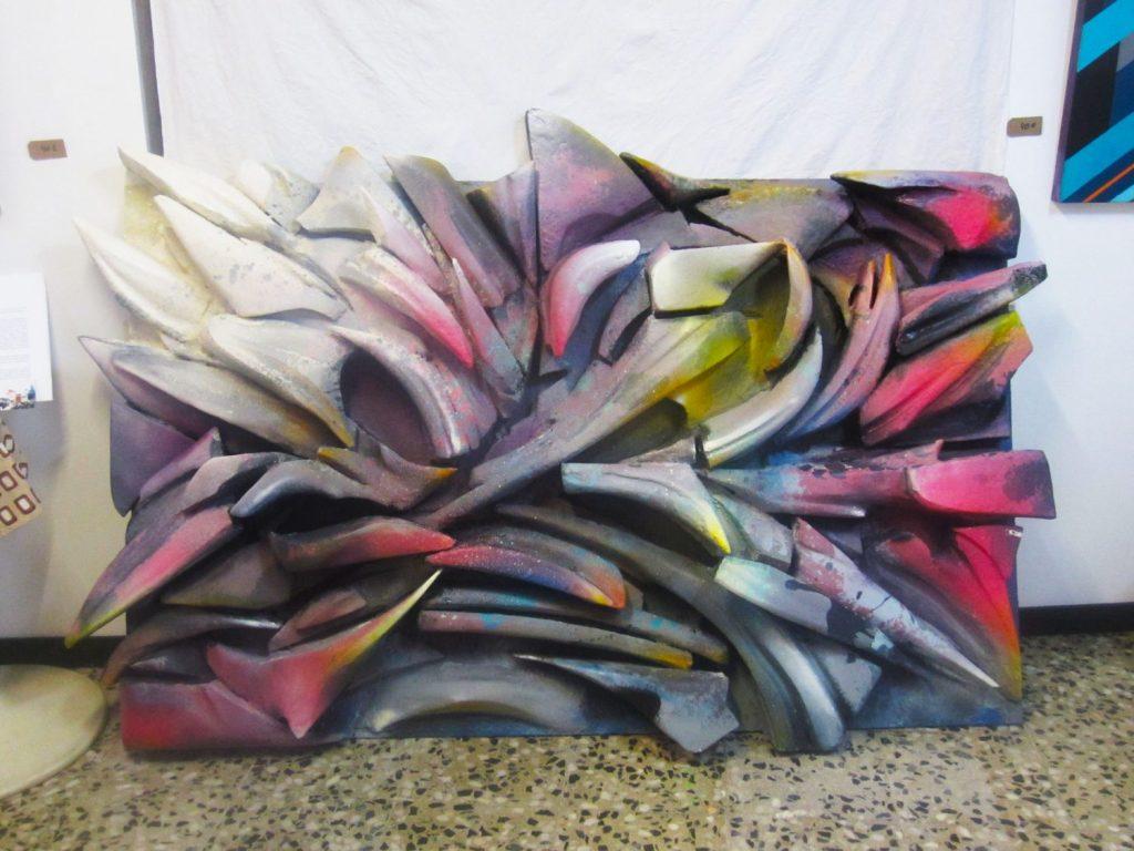 Molde madre.Poliestirene on wood.200X130.1700 euros (1)