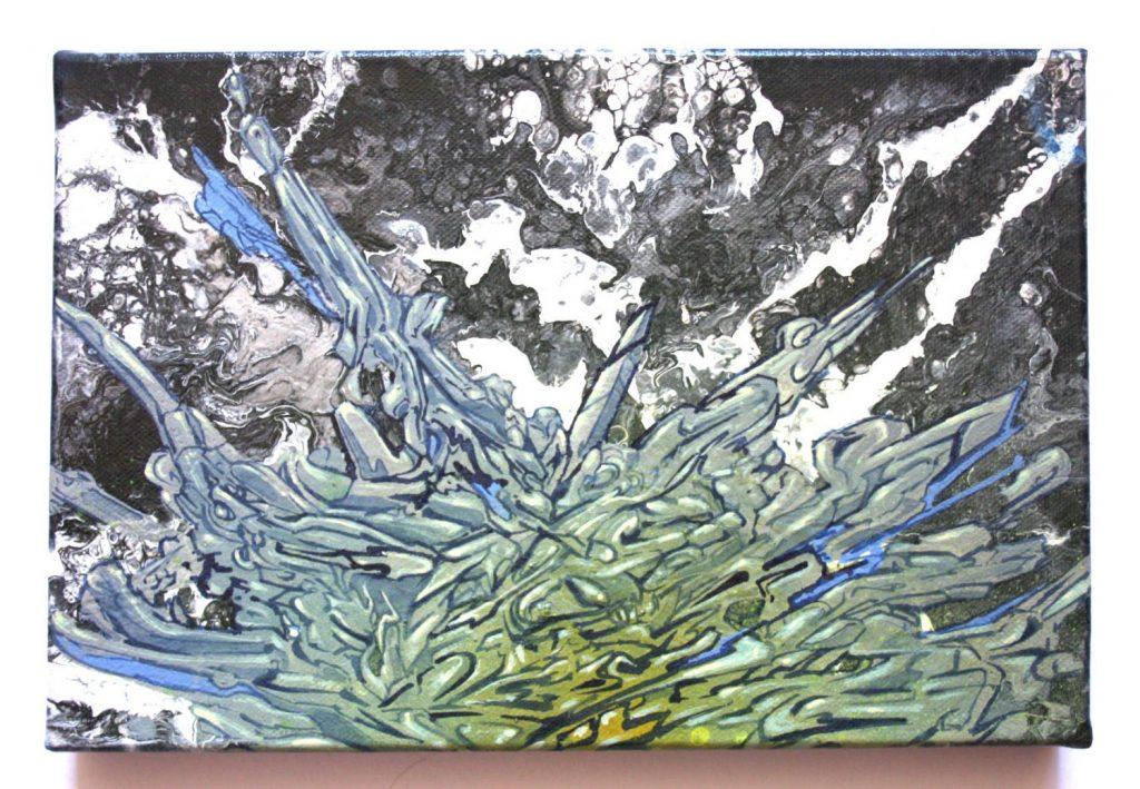 graff shield.on canvas.30x20cm.135€