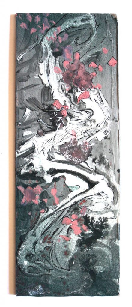 japanesse swirl.on cardboard.10x29cm.25€