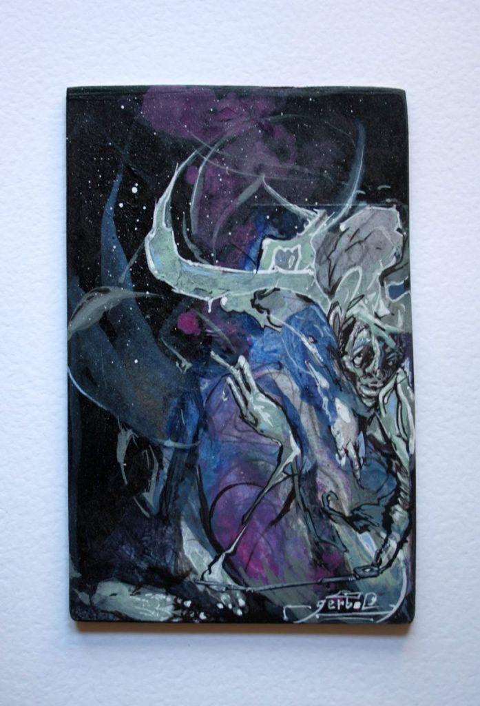 knightwatcher.wicked.Acrilic on wood (1)